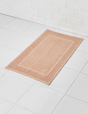 Small Flat Bath Mat, SOFT PEACH, catlanding