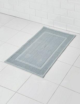 Small Flat Bath Mat, SOFT BLUE, catlanding