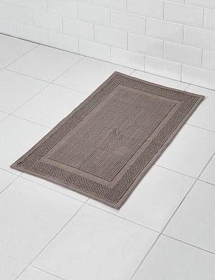 Small Flat Bath Mat, CHARCOAL, catlanding
