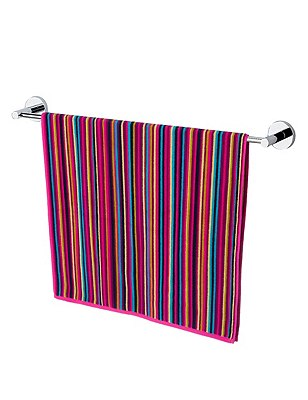 Leila Striped Towel, FUCHSIA MIX, catlanding