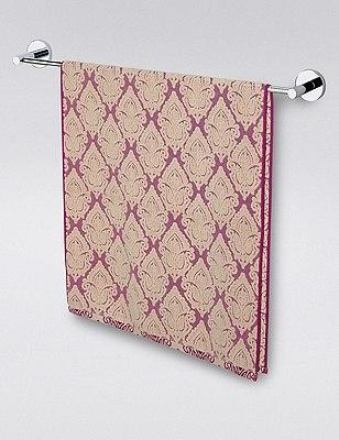Decorative Jaipur Towel, DARK AUBERGINE, catlanding