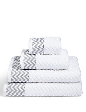 Zigzag Towel, WHITE MIX, catlanding