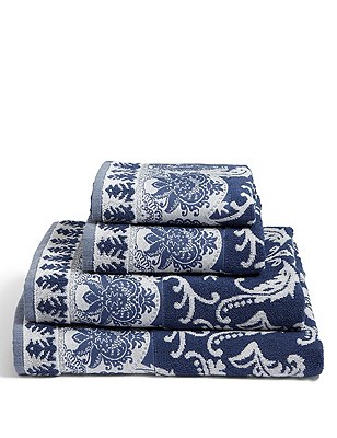 Decorative Saloon Towel, BLUE MIX, catlanding