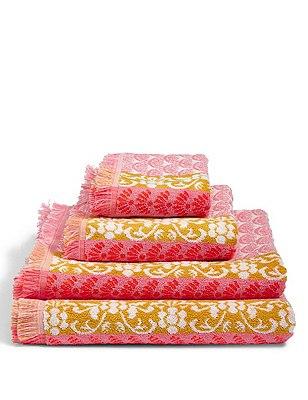 Oriental Geo Towel, CORAL MIX, catlanding