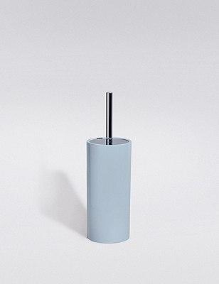 Resin Toilet Brush Holder, SOFT BLUE, catlanding