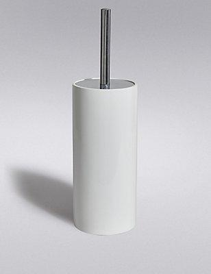 Resin Toilet Brush Holder, WHITE, catlanding