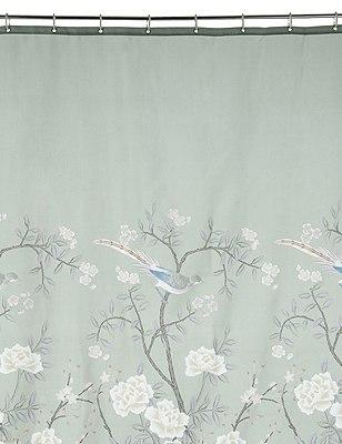 Keepsake Bird Print Shower Curtain, , catlanding