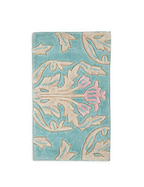 Hollywood Floral Bath & Pedestal Mats, DUCK EGG, catlanding