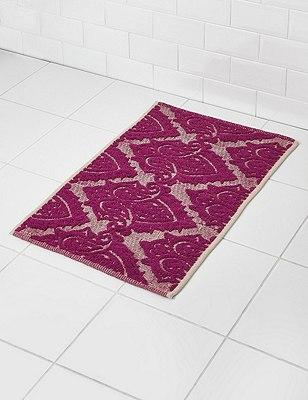 Decorative Jaipur Mat, DARK AUBERGINE, catlanding