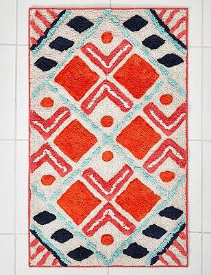 Large Scale Peruvian Patterned Mat, MULTI/BRIGHTS, catlanding