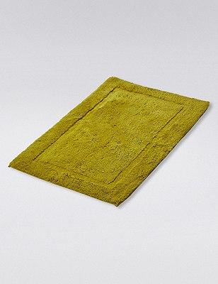 Pure Egyptian Cotton Bath & Pedestal Mats, LIME, catlanding