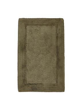 Pure Egyptian Cotton Bath Mat (£19.50) & Pedestal mats (£15), KHAKI, catlanding