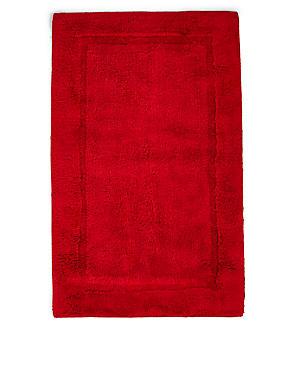 Pure Egyptian Cotton Bath Mat (£19.50) & Pedestal Mats (£15), CRANBERRY, catlanding