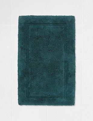 Pure Egyptian Cotton Bath & Pedestal Mats, ANTIQUE GREEN, catlanding