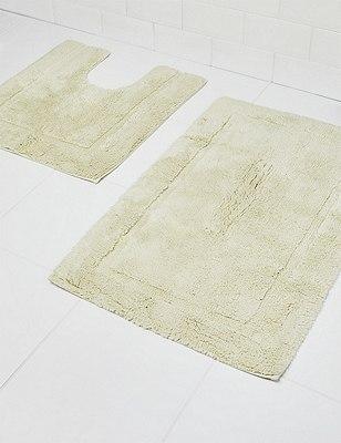 Pure Egyptian Cotton Bath & Pedestal Mats, PALE MINT, catlanding