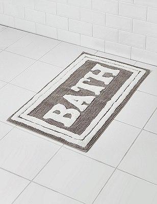 Bath Slogan Mat, NEUTRAL, catlanding