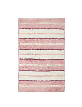 Spa Striped Bath & Pedestal Mats, PINK MIX, catlanding