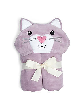 Pure Cotton Kitten Poncho Towels, PINK MIX, catlanding