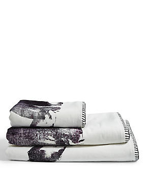 Painted Polar Bear Towel, GREY MIX, catlanding