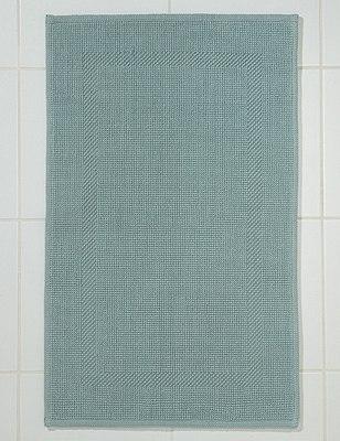 Textured Bath Mat, DUCK EGG, catlanding