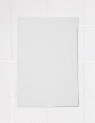 Textured Bath Mat, WHITE, catlanding