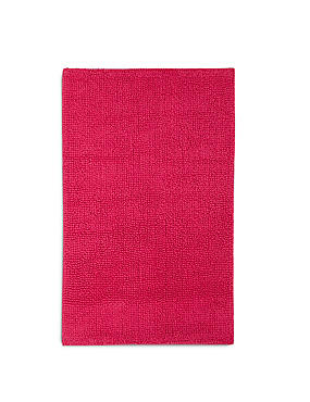 Soft Cotton Bobble Mat & Pedestal Mats, RASPBERRY, catlanding