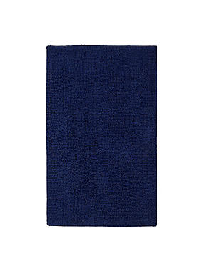 Soft Cotton Bobble Mat & Pedestal Mats, NAVY, catlanding
