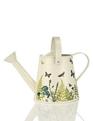 Small Botanical Printed Watering Can, , catlanding