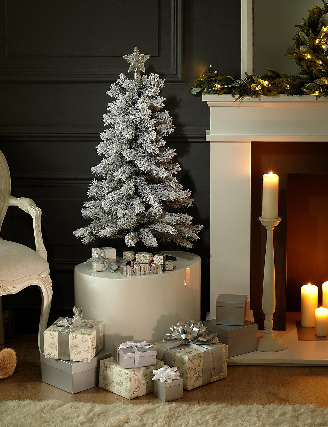 3ft snow effect green christmas tree - 3 Ft Christmas Tree