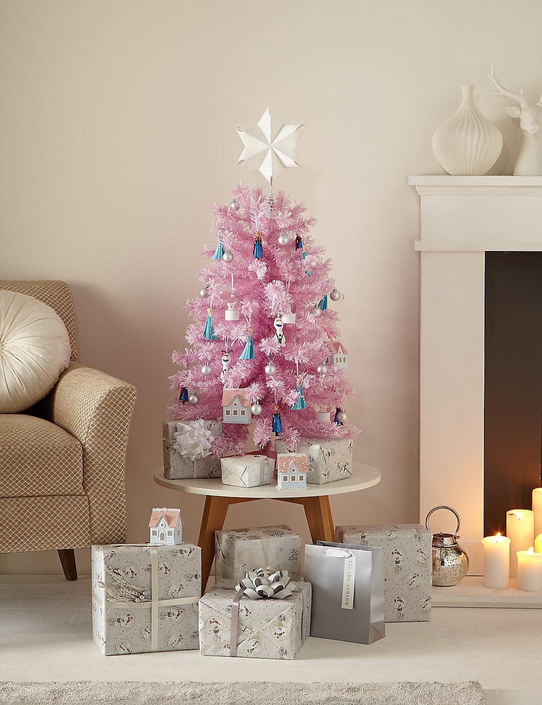 3ft pink flocked christmas tree - 3 Ft Christmas Tree
