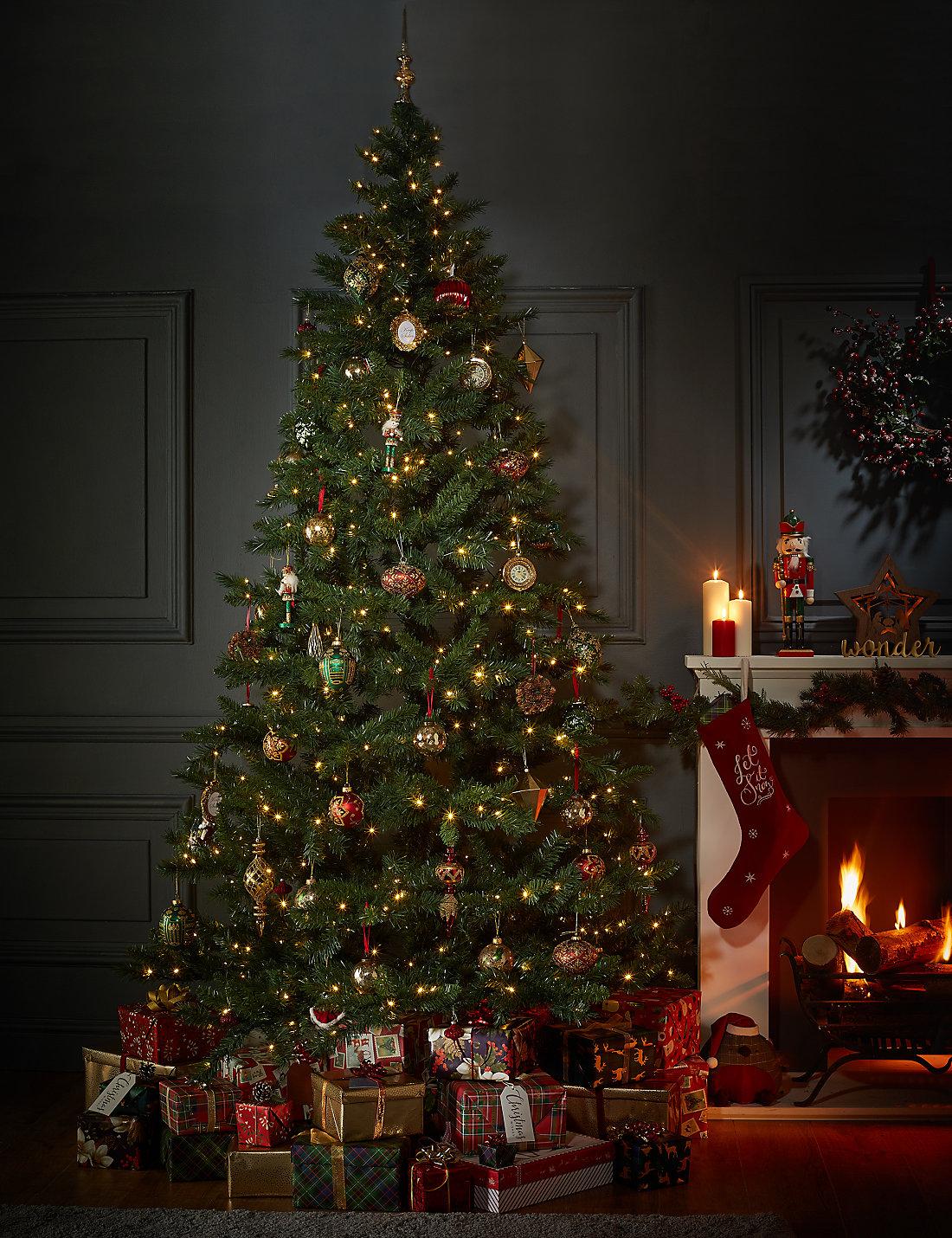 9ft pre lit standard christmas tree