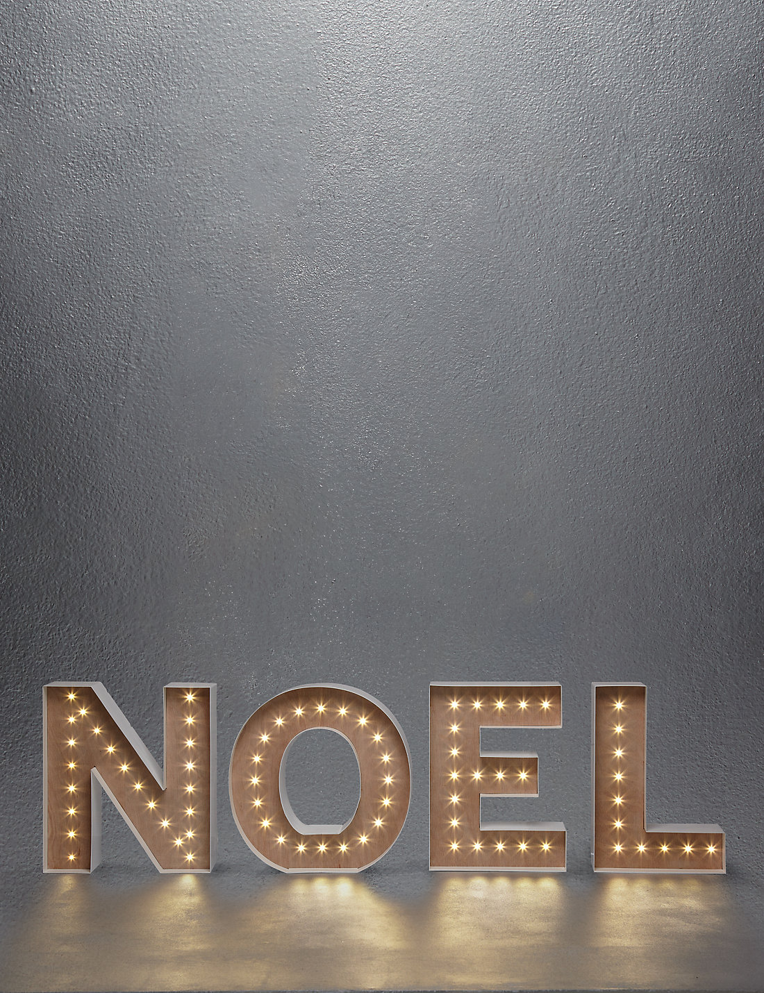 Gold Lit Letters Noel Giant Lightup Letters  M&s