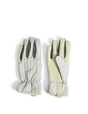 Striped Gardeners Gloves, , catlanding