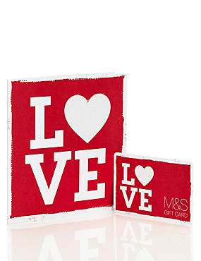 Red & White Love Gift Card