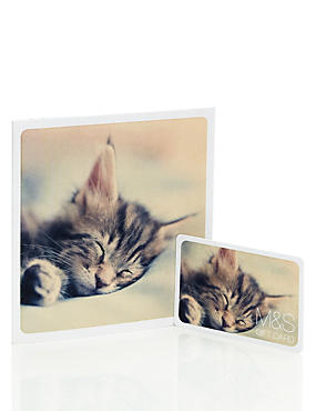Cute Sparkle Cat Gift Card