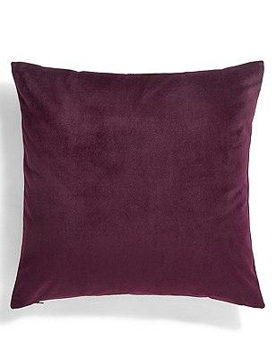 Velvet Cushion, PLUM, catlanding
