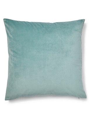 Velvet Cushion, DUCK EGG, catlanding