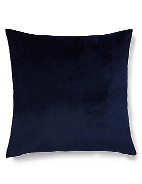 Velvet Cushion, NAVY, catlanding