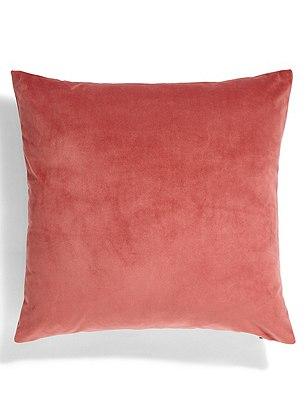 Velvet Cushion, BLUSH PINK, catlanding