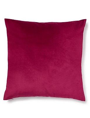 Velvet Cushion, HOT PINK, catlanding