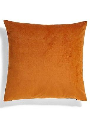 Velvet Cushion, BURNT ORANGE, catlanding