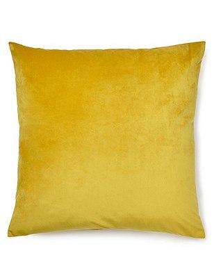 Velvet Cushion, OCHRE, catlanding