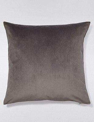 Velvet Cushion, GREY, catlanding