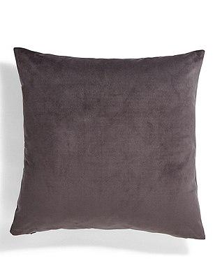 Velvet Cushion, CHARCOAL, catlanding