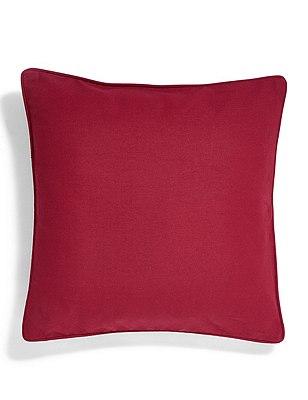Cotton Rib Cushion, DARK RED, catlanding