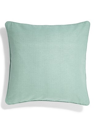Cotton Rib Cushion, DUSTY BLUE, catlanding