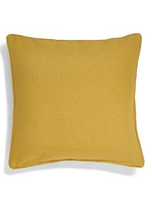 Cotton Rib Cushion, OCHRE, catlanding