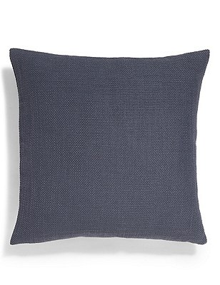 Bantry Weave Cushion, DARK BLUE, catlanding