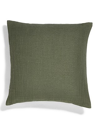 Bantry Weave Cushion, OLIVE, catlanding