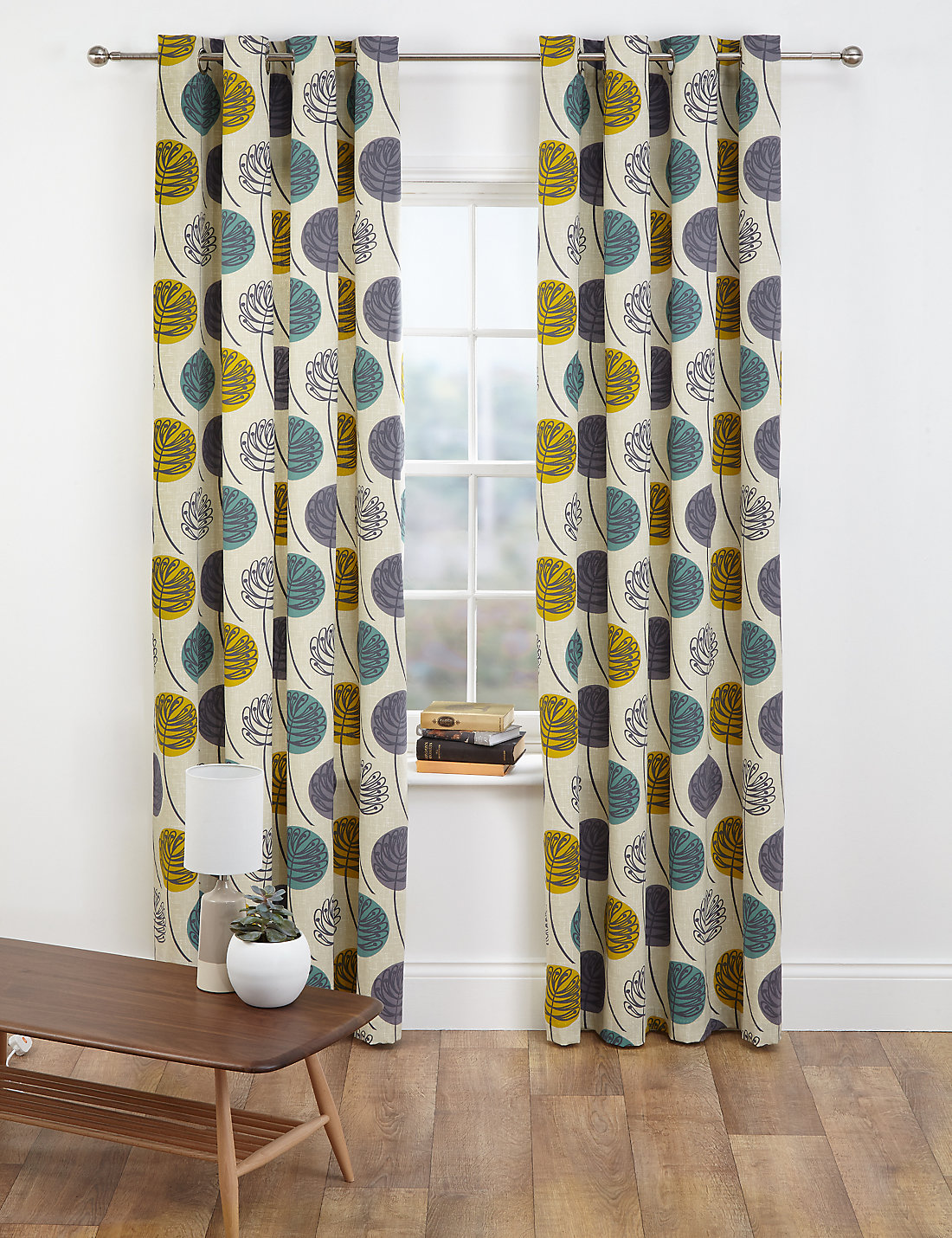 contemporary leaf eyelet curtains  ms - contemporary leaf eyelet curtains